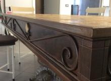 tavolo in ferro-marmo